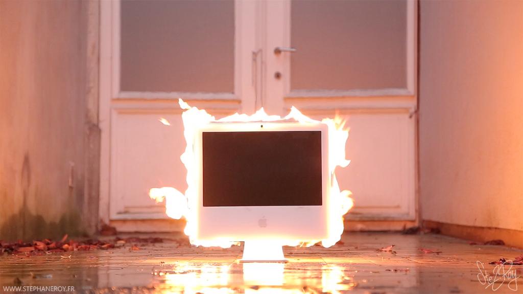 Burning-computer-low